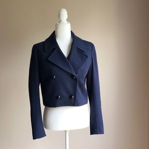 Loft Navy Blue Double Breasted Spring Blazer